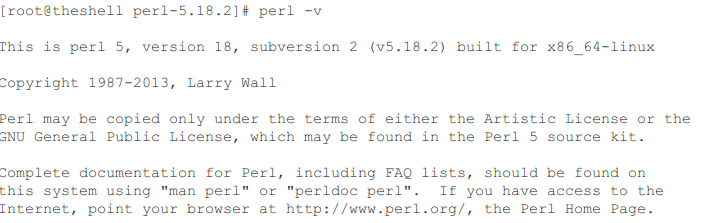 perl install 5.18.2