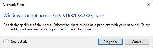 Windows Share Network Error
