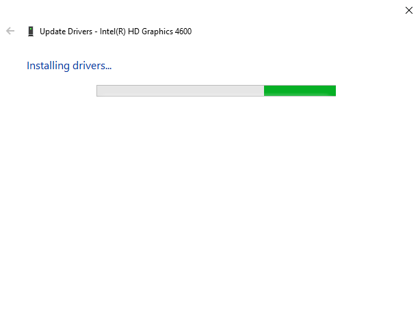 driver being installed