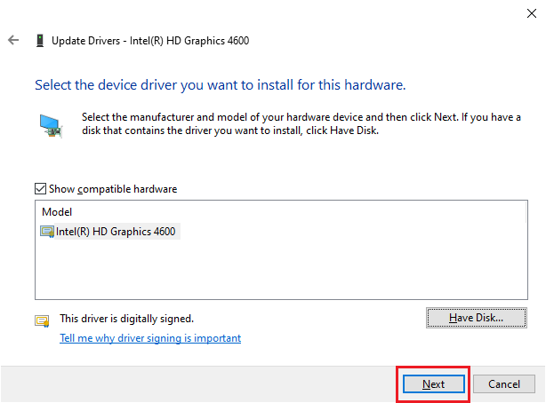 update intel display driver - driver located